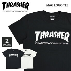 【割引クーポン配布中】 THRASHER (スラッシャー) MAG LOGO TEE Tシャツ 半袖 メンズ クルーネックTシャツ ティーシャツ ストリート スケート 【単品購入の場合はネコポス便発送】【RCP】