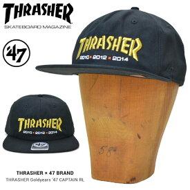 【割引クーポン配布中】 47BRAND (フォーティーセブン ブランド) キャップ THRASHER x Giants Goldyears '47 CAPTAIN RL CAP 帽子 スナップバックキャップ MLB ブラック 【あす楽対応】【RCP】