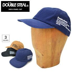【割引クーポン配布中】 DOUBLE STEAL (ダブルスティール) キャップ SIDE 6-PANEL CAP 帽子 ストラップバックキャップ 6パネルキャップ ブラック ネイビー キャメル 495-92040 【あす楽対応】【RCP】