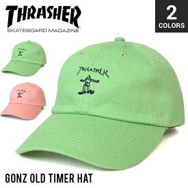 【クーポン利用で最大1,000円OFF】 THRASHER (スラッシャー) GONZ OLD TIMER HAT 6-PANEL CAP キャップ STRAPBACK CAP 6パネルキャップ ストラップバックキャップ 帽子 メンズ レディース ユニセックス ストリート スケート 【あす楽対応】【RCP】