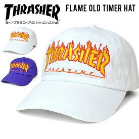 【クーポン利用で最大1,000円OFF】 THRASHER (スラッシャー) FLAME OLD TIMER HAT 6-PANEL CAP キャップ STRAPBACK CAP 6パネルキャップ ストラップバックキャップ 帽子 メンズ レディース ユニセックス ストリート スケート 【あす楽対応】【RCP】