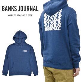 【割引クーポン配布中】 BANKS JOURNAL (バンクス ジャーナル) パーカー WARPED GRAPHIC FLEECE HOODIE プルオーバー フリース スウェット メンズ S-XL ブルー WFL0267 【あす楽対応】【RCP】