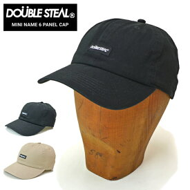 【割引クーポン配布中】 DOUBLE STEAL (ダブルスティール) キャップ MINI NAME 6-PANEL CAP 帽子 ストラップバックキャップ 6パネルキャップ ブラック ベージュ 404-92047 【あす楽対応】【RCP】