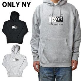 【割引クーポン配布中】 ONLY NY (オンリーニューヨーク) DECO HOODY プルオーバー パーカー スウェット フリース メンズ ストリート スケート 【あす楽対応】【RCP】