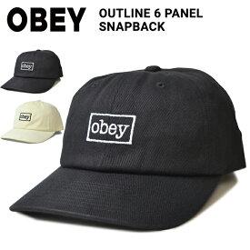 【割引クーポン配布中】 OBEY (オベイ) OUTLINE 6-PANEL SNAPBACK HAT CAP キャップ 帽子 スナップバックキャップ 6パネルキャップ メンズ レディース ユニセックス ストリート スケート 【あす楽対応】【RCP】