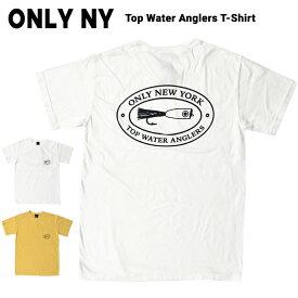 【割引クーポン配布中】 ONLY NY (オンリーニューヨーク) Tシャツ TOP WATER ANGLERS T-SHIRT TEE ポケット Tシャツ ポケT 半袖 カットソー メンズ S-XL ホワイト イエロー系 【単品購入の場合はネコポス便発送】【RCP】