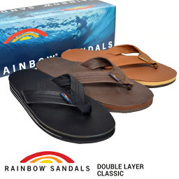 RAINBOW SANDALS(彩虹涼鞋)DOUBLE LAYER CLASSIC LEATHER SANDAL雙層古典皮革涼鞋Beach sandal人302ALTS CL