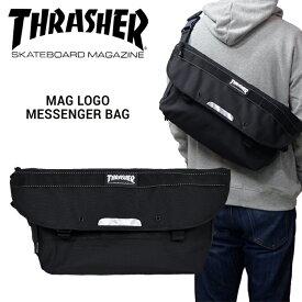 【割引クーポン配布中】 THRASHER (スラッシャー) MAG LOGO MESSENGER BAG メッセンジャーバッグ ショルダーバッグ 斜め掛け ロゴ ストリート スケート バッグ 鞄 THREX400 【あす楽対応】【RCP】