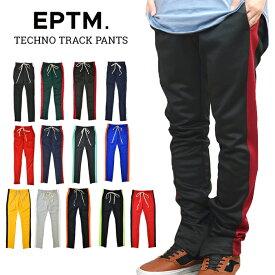 【割引クーポン配布中】 EPTM (エピトミ) TECHNO TRACK PANTS トラックパンツ ジャージ ラインパンツ 裾ジップ メンズ スリム 【あす楽対応】【RCP】