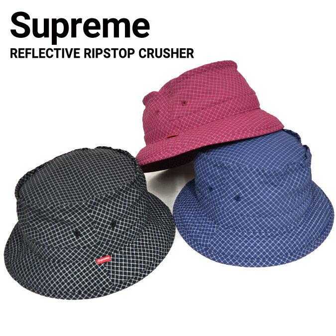【クーポン利用で最大1,000円OFF】 Supreme (シュプリーム) REFLECTIVE RIPSTOP LOW CRUSHER HAT ハット キャップ 帽子 メンズ レディース ストリート スケート 帽子 SUPREME 【あす楽対応】【RCP】