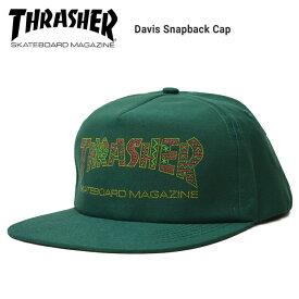 【割引クーポン配布中】 THRASHER (スラッシャー) DAVIS SNAPBACK CAP キャップ 5パネルキャップ スナップバックキャップ 帽子 ストリート スケート 【あす楽対応】【RCP】