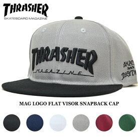 【クーポン利用で最大1,000円OFF】 THRASHER (スラッシャー) MAG LOGO FLAT VISOR SNAPBACK CAP キャップ 6パネルキャップ スナップバックキャップ 帽子 メンズ レディース ユニセックス ストリート スケート 19TH-C16 【あす楽対応】【RCP】
