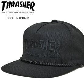 【割引クーポン配布中】 THRASHER (スラッシャー) ROPE SNAPBACK CAP キャップ 5パネルキャップ スナップバックキャップ 帽子 メンズ レディース ユニセックス ストリート スケート 【あす楽対応】【RCP】