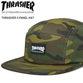 【割引クーポン配布中】 THRASHER (スラッシャー) THRASHER 5-PANEL HAT CAP キャップ 5パネルキャップ ストラップバックキャップ 迷彩柄 帽子 メンズ レディース ユニセックス ストリート スケート 【あす楽対応】【RCP】