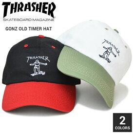 【割引クーポン配布中】 THRASHER (スラッシャー) GONZ OLD TIMER HAT CAP キャップ 6パネルキャップ ストラップバックキャップ 帽子 メンズ レディース ユニセックス ストリート スケート 【あす楽対応】【RCP】