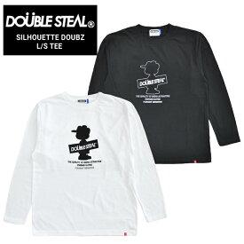 【割引クーポン配布中】 DOUBLE STEAL (ダブルスティール) ロンT SILHOUETTE DOUBZ L/S T-SHIRT TEE Tシャツ 長袖 カットソー メンズ M-XL ブラック ホワイト 995-14058 【単品購入の場合はネコポス便発送】【RCP】