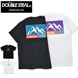 【割引クーポン配布中】 DOUBLE STEAL (ダブルスティール) MOUNTAIN T-SHIRT TEE Tシャツ 半袖 カットソー メンズ ブラック ホワイト M-XL 901-14005 【単品購入の場合はネコポス便発送】【RCP】