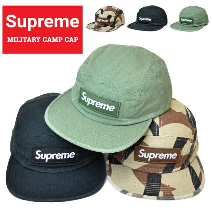 【割引クーポン配布中】 Supreme (シュプリーム) キャンプ キャップ MILITARY CAMP CAP 5パネルキャップ 帽子 ストラップバックキャップ 迷彩柄 カモ ブラック オリーブ SUPREME 【あす楽対応】【RCP】