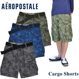 Aeropostale エアロポステール カーゴショーツ Camo Belted Cargo Shorts ショートパンツ ボトムス【あす楽対応】 【RCP】【売り尽くし】