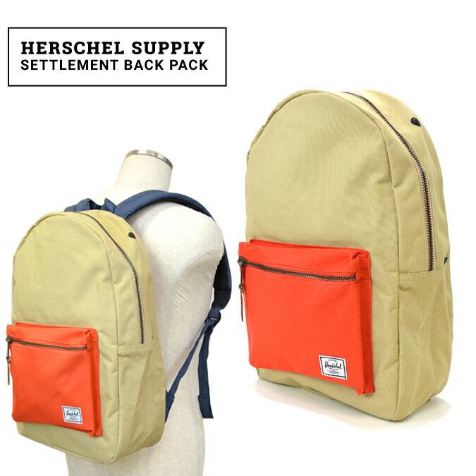 【クーポン利用で最大1,000円OFF】 Herschel Supply/ハーシェル サプライ Settlement Back Pack リュック バッグ バックパック【あす楽対応】【RCP】【クリアランス】