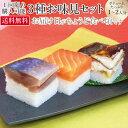 [生さば寿司 サーモン寿司 焼き鯖寿司]お試し三点セット【初回購入者限定・送料無料・1回限り】【御贈答不可】【12月2…