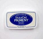 ステイズオン・ピグメントStazOnPIGMENT紺色マリナーブルーインク速乾溶剤性・顔料系インク速乾性SZ-PIG-061スタンプはんこツキネコtukinekoこどものかおKODOMONOKAO(メール便可!!)