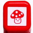 NEW!! スケジュール浸透印スタンプ はんこ 0556-509 きのこ キノコ 茸 レッド 赤 こどものかお KODOMO NO KAO (クロネコDM便可!!)