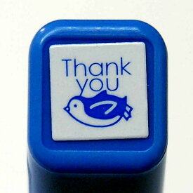 スケジュール浸透印スタンプ はんこ 0556-652 ペンギン Thank you すべる ぺんぎん penguin サンキュー お礼 ブルー 青色 blue こどものかお KODOMO NO KAO (メール便可!!)