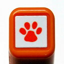スケジュール浸透印スタンプ はんこ 0556-539 肉球 シルエット あしあと 動物 犬 猫 orange オレンジ 橙色 こどものかお KODOMO NO…