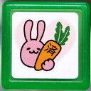ミニスタンプ浸透印 はんこ C:0542-142 うさぎ ウサギ 兎 にんじん 人参 済 グリーン 緑 こどものかお KODOMO NO KAO (メール便可!!)