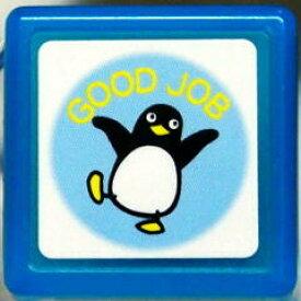 ミニスタンプ浸透印 はんこ C:0542-147 ぺんぎん ペンギン GOOD JOB グッジョブ ブルー 青 こどものかお KODOMO NO KAO (メール便可!!)