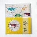 スタディーホリック STUDY HOLIC レターセット (古生物学) ST-129 マスターイエロー 黄色 便箋 封筒 セット 恐竜 ティラノサウルス …