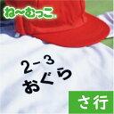 ゼッケン 名入れ フロッキーネーム特大◆さ行◆ 2枚入【日本製】  ワッペン ひらがな 名前シール 体操着