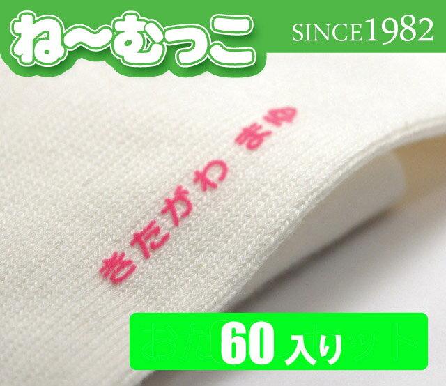 フロッキーネーム(ひらがな・漢字・ローマ字) 【徳用2セット 60片入】【日本製】 名前シール アイロンシール