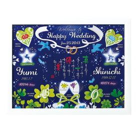 【ネームインポエム】名前詩 お名前ポエム 結婚式 両親プレゼント ウェルカムボード サンクスボード ブライダル ウェディング 名入れ 記念品 ギフト<幸せの記録 「青い鳥」>