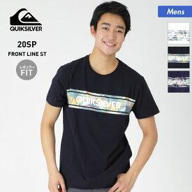 全品割引券配布中 アウトレット メンズ 半袖 Tシャツ トップス プリント クルーネック 男性用 QUICKSILVER クイックシルバー QST201031