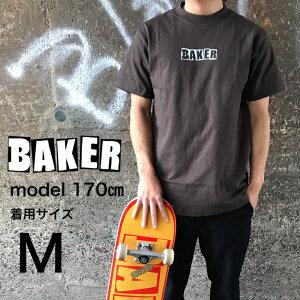 BAKER baker skate BRAND LOGO T-SHIRT DARK CHOCOLATE ベイカー スケートボード スケボー Tシャツ tシャツブラウン ダークチョコレート こげ茶 メンズ レディース