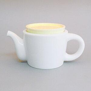 アウトレット 白磁 イエロー ポット 急須 日本製 陶器 茶こし付 320cc 和食器 美濃焼 お茶 紅茶