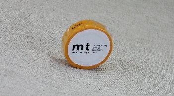 mt【カモ井加工紙】無地 貼って剥がせるマスキングテープ 無地 ひまわり ワイン 幅15mm MT01P194 MT01P195