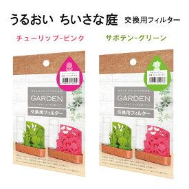 専用交換フィルター うるおい ちいさな庭 自然気化式ECO加湿器 積水樹脂 チューリップ(ピンク) サボテン(グリーン) 2種類