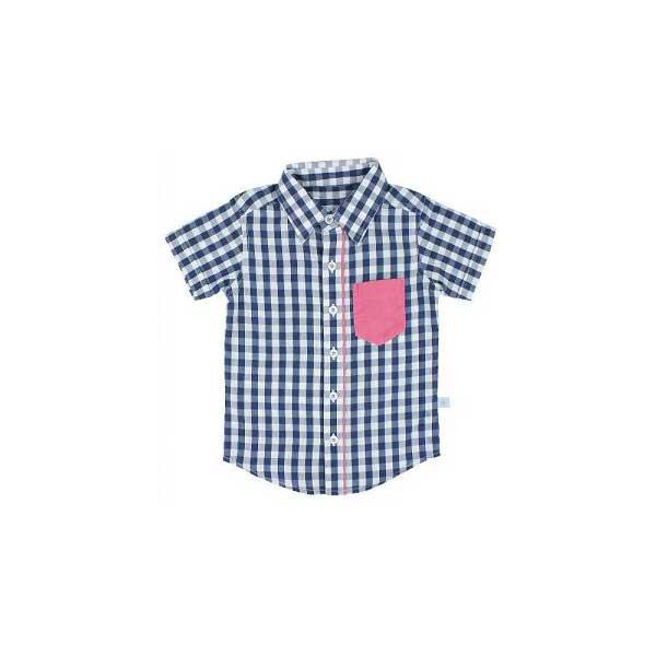 (メール便可)RuggedButts(ラゲッドバッツ)★ネイビーギンガムカッターシャツ★RuffleButts(ラッフルバッツ)の男の子ブランド