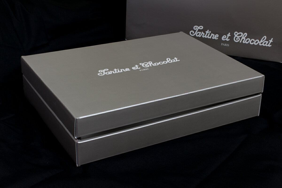 [Tartine et Chocolat](タルティーヌ エ ショコラ) オリジナルギフトボックス(Tartine et Chocolatのブランド手提げ袋付属)