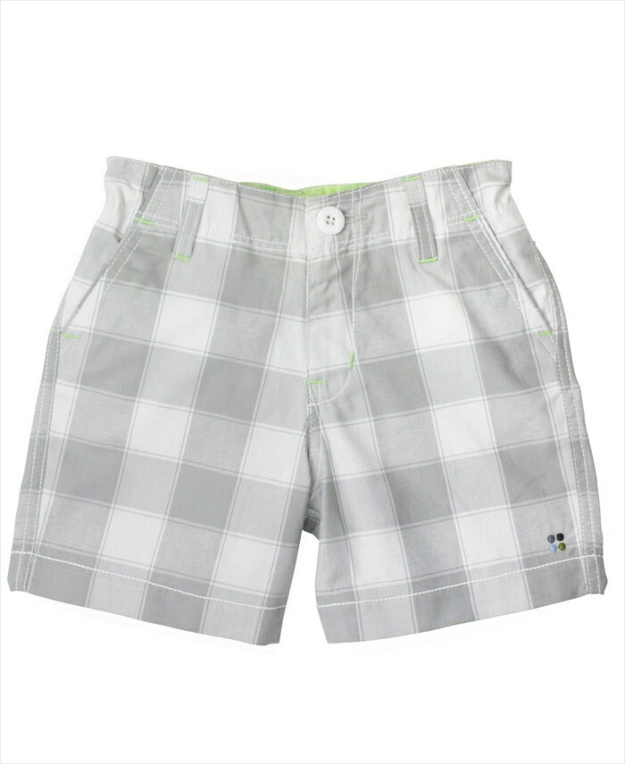 (メール便可)RuggedButts(ラゲッドバッツ)グレー×ホワイトチェックハーフパンツ RuffleButts(ラッフルバッツ)の男の子ブランド