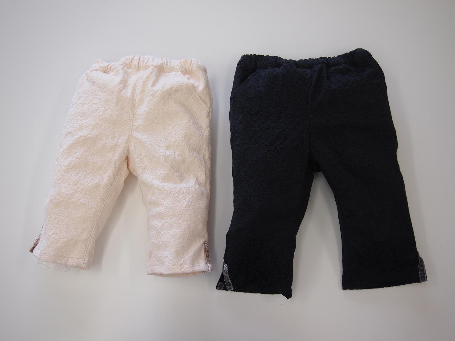 セール 40%OFF (メール便可)hakka kids(ハッカキッズ)レース風ストレッチスリム8分丈パンツ1(150〜160cm)SALE