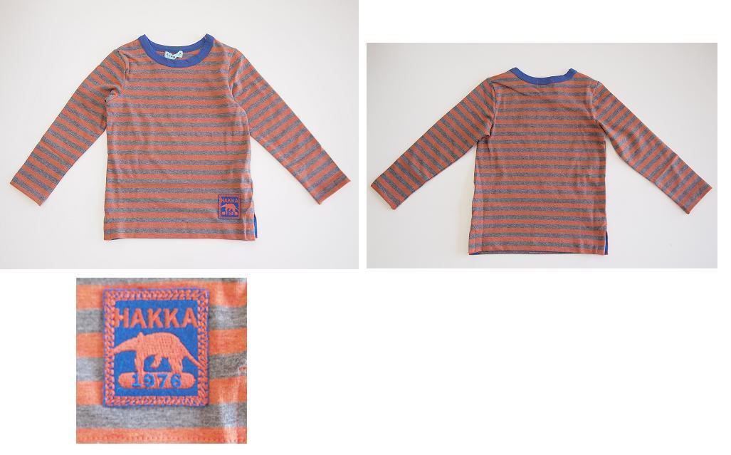 セール40%OFF (メール便可)hakka kids(ハッカキッズ)ボーダー長袖Tシャツ100cm〜130cm[ハッカキッズ][Tシャツ][hakka kids] SALE