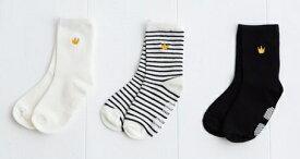 (メール便可)【birthday party】[バースデーパーティー] 王冠刺繍ベーシックソックス(8-13cm)【BeBe】[ベベ] (男の子 女の子) [靴下] (1479-050285)