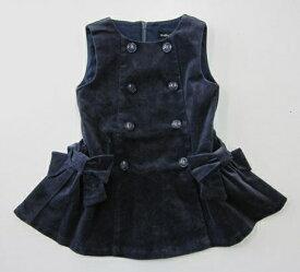 セール50%OFF【BeBe】[ベベ]リブレスコールリボンジャンパースカート (90cm 100cm 110cm 120cm 130cm) (秋冬物) (女の子) [ジャンパースカート] [ワンピース] [子供服] (1103-980021) (1103-980025)SALE