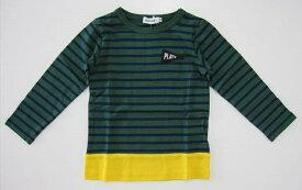 セール50%OFF (メール便可)【SLAP SLIP】[スラップスリップ] ボーダー切り替え天竺Tシャツ (80cm 90cm 100cm 110cm 120cm 130cm) (秋冬物) (男の子) [長袖Tシャツ] [子供服] (1815-961011) (1815-961015)【BeBe】[ベベ] SALE