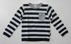 セール20%OFF (メール便可)【Noeil aime BeBe】[ノイユ エーム べべ]やわらか素材のボーダー長袖Tシャツ (110cm) (男の子 女の子) [長袖Tシャツ] [べべの子供服]【BeBe】[ベベ] (1775-660355) SALE
