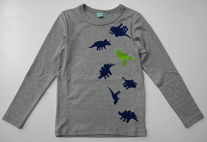セール40%OFF (メール便可)【HAKKA KIDS】[ハッカキッズ] 表起毛ストレッチフライス恐竜PT長袖Tシャツ (秋冬物) (130cm 140cm) (男の子) [長袖Tシャツ] (02951976)SALE